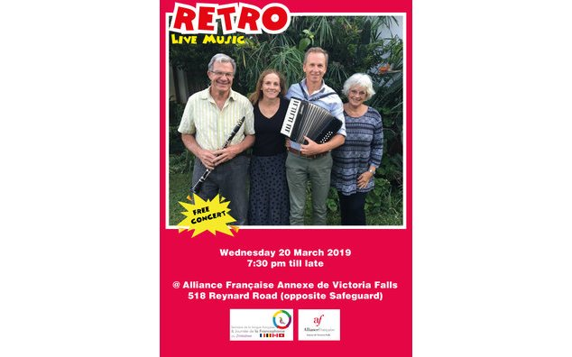 RETRO live music Harare Friday 22 March, Victoria Falls Wednesday 20 March